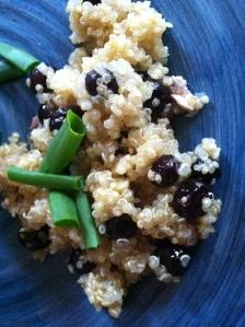 blueberry ginger quinoa