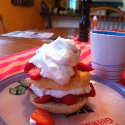 Sort of Strawberry Shortcake (with Rose Whipped Cream)