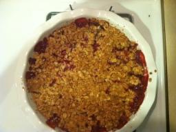 Strawberry Crumble
