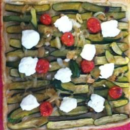 Zucchini &Goat's Cheese Tart