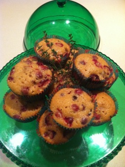 Cranberry Thyme Muffins