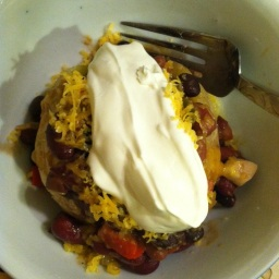 Chili Cheese Jacket Potato