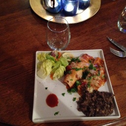 Tasha's Corner: Enchiladas Rojas with Black Beans