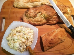 Ricotta Dip with Homemade Bread