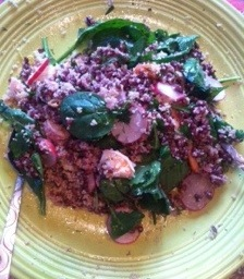 Shrimp, Black Barley and Couscous Salad