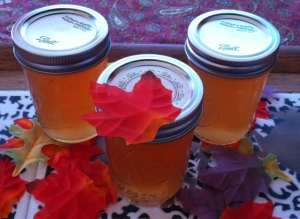 3 jars cloudy apple jelly